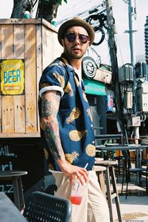파인애플 비치 하프셔츠(2color)