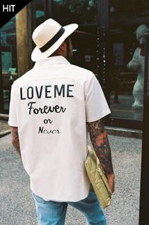 [입고지연]러브미 히든 하프셔츠(2color)