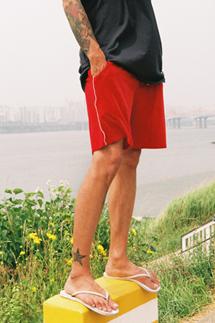 벨루어 파이핑 쇼트팬츠(3color)