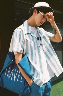 하워드 스트라이프 하프셔츠(2color)